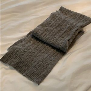 Jcrew wool/cashmere cable knit scarf